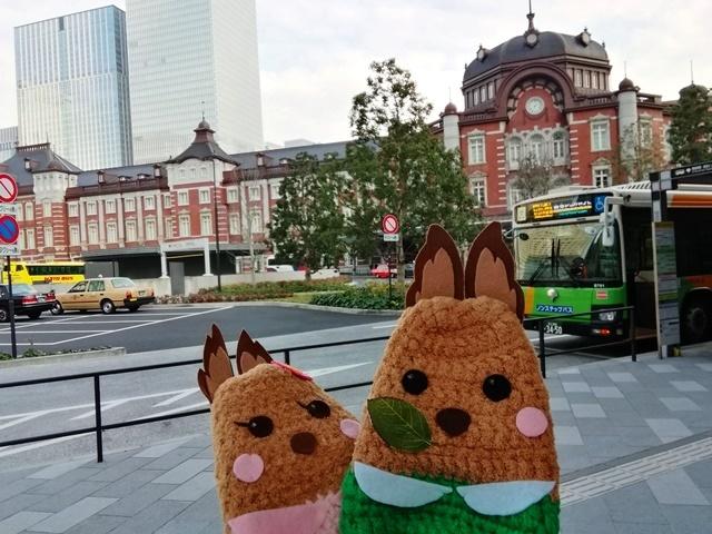 20180120東京駅丸の内南口にミントくんとペッパーちゃん.jpg